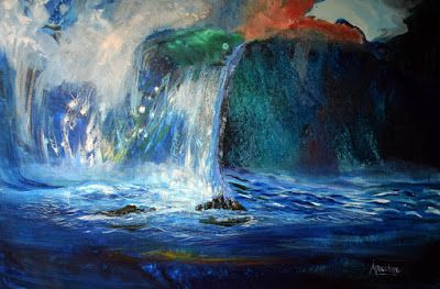 "Original Contemporary Seascape Painting ""Noble Treasures"" by International Contemporary Seascape Artist Arrachme"