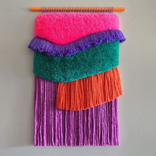 Colorful Tapestries of Silk, Wool, and Cotton Hand Woven by Judit Just