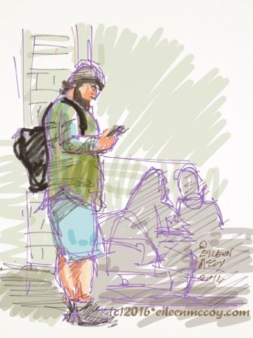 Airport Sketches on iPad