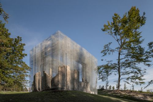Wired Mesh Installation for an Open Air Museum in Italy