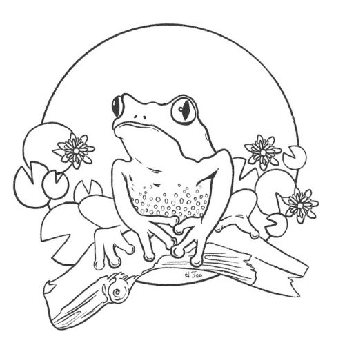 Free colour-in illustrations