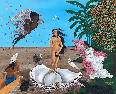 """The Birth of Creole Venus"" by Creole Folk Artist Andrew LaMar Hopkins"