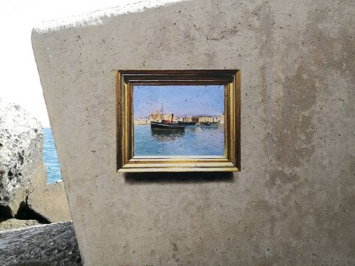 Uncanny Trompe L'oeil Replicas of Classic Masterpieces Painted in Humble Outdoor Locations