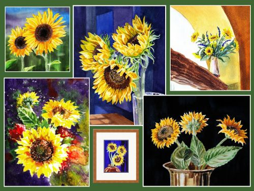 Sunflowers Season - Watercolor Paintings