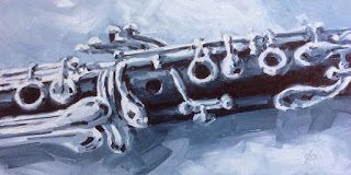 CLARINET OIL PAINTING by TOM BROWN