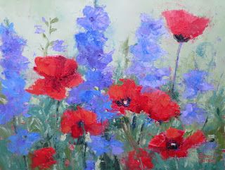 Poppy & Company, New Contemporary Floral Paintings by Sheri Jones