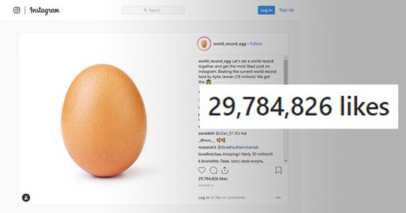Random Egg Picture Smashes Record for Most-Liked Instagram Photo