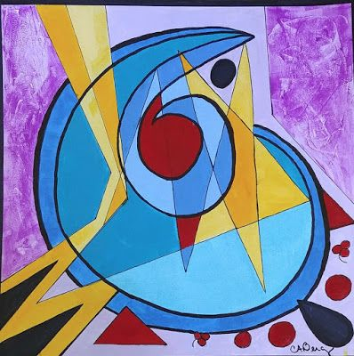 "Colorful Mixed Media Painting, Contemporary Art, "" I'm a Star"