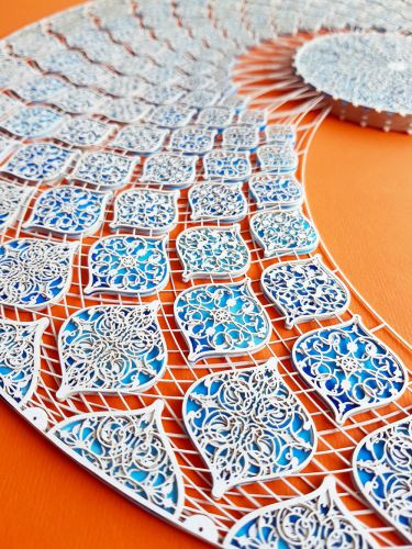 Decorative Laser Cut Paper Compositions with Hand-Painted Ink by Julia Ibbini