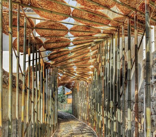 The Bamboo Hat Porch in Village / Rural Culture D-R-C