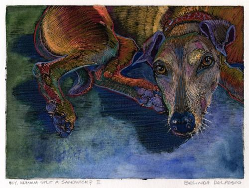 Dark Field Monotype Pet Portraits - and a video tutorial