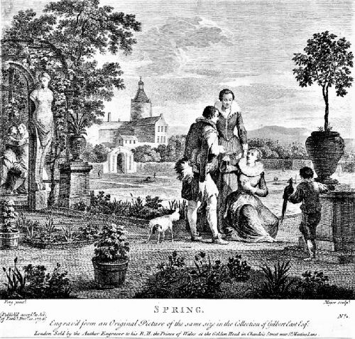 1754 Allegory of Spring - In a Garden