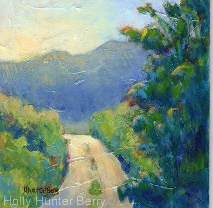 """Contemporary Colorful Landscape Painting, Mixed Media, Fine Art For Sale, """"In Search Of"""" By Passionate Purposeful Painter Holly Hunter Berry"""