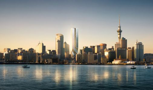 Images Reveal Tallest Tower in Auckland, New Zealand Set for Completion in 2021