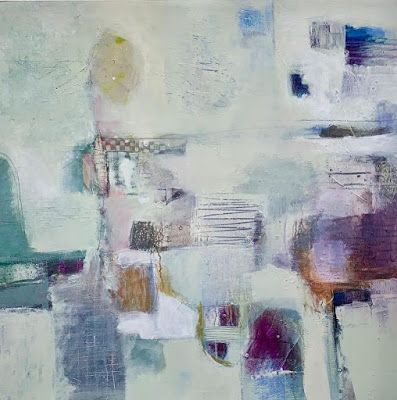 """Abstract Art, Contemporary Painting, Expressionism """"Finding the Quiet Place"""" by Contemporary Artist Liz Thoresen"""
