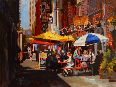 """The San Patricio"" Seattle city, oil painting by Robin Weiss"