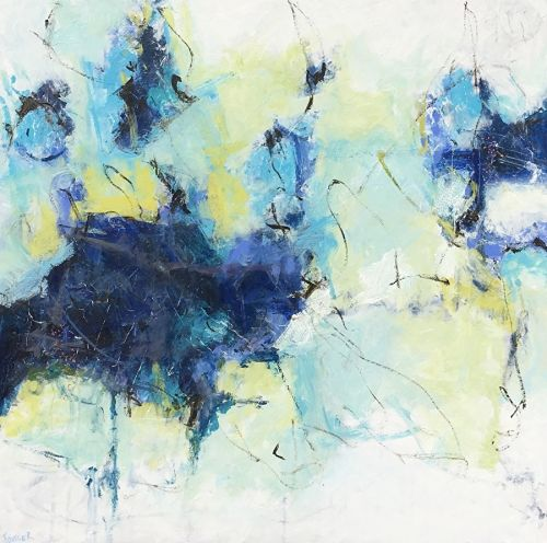 "Contemporary Abstract Expressionist Painting ""BROKEN BRAVERY"" by Abstract Artist Pamela Fowler Lordi"