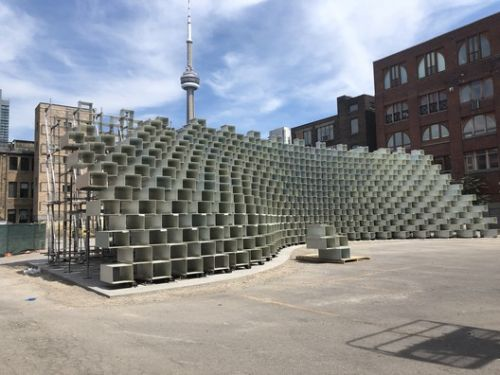 BIG's Relocated Serpentine Pavilion Nears Completion in Toronto as Landmark Tower Tops Out in Vancouver