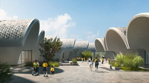 Zaha Hadid Architects Designs Parabolic-Vaulted School Campus in Rural China