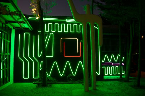 Interactive Neon Mural 7 by Spidertag in Chiang Mai, Thailand