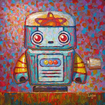 Wind Up Tin Toy Robot Five
