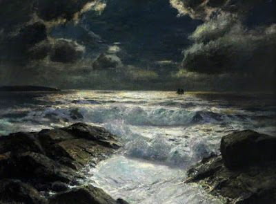 Albert Julius Olsson, Cloudy Moonlight