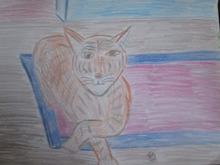 Kitty Cat, Kicking Back - Colored Pencil