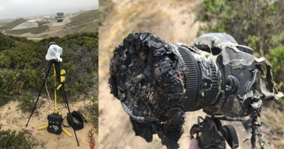 How a Rocket Launch Melted a NASA Photographer's Canon DSLR