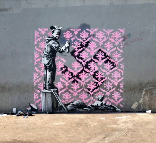 Banksy unveils new pieces in Paris, France