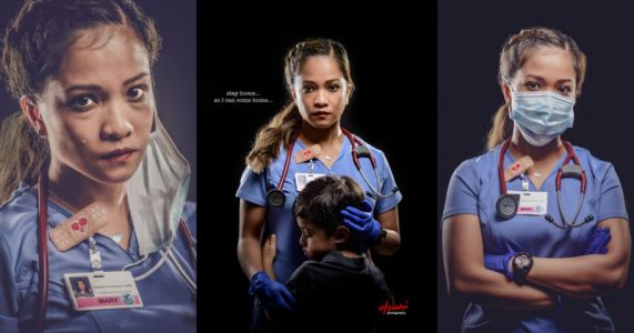 Photographer Shoots Emotional 'Stay Home' Portrait of His Wife, a Nurse