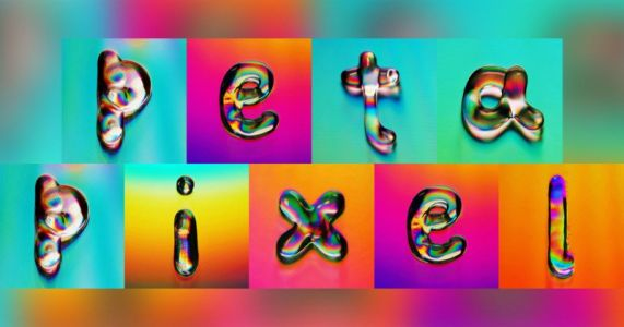 This Colorful Typography Was Made by Shooting Photos of Water on CDs