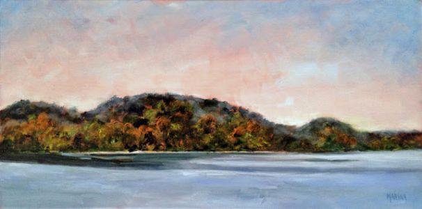 LAKEVIEW-Original Plein Air Landscape Oil Painting by Marina Petro