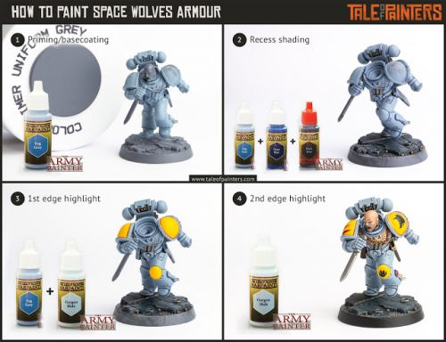 Tutorial: How to paint Space Wolves armour