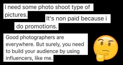 How NOT to Approach a Photograper If You're an 'Influencer'