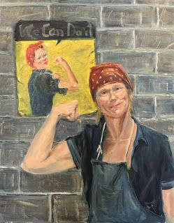 Rosie the Riveter - Contemporary Warrior woman