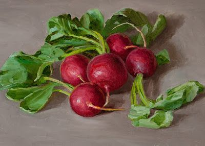 Radishes still life daily painting a day