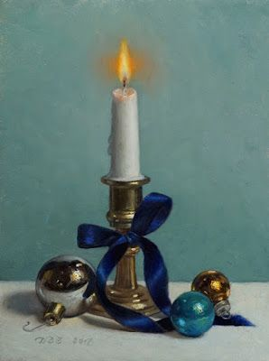"""Merry and Bright"" Oil on 8x6 inch board"