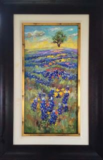 "New ""Over the Hills"" Bluebonnet Painting by Texas Artist Niki Gulley"