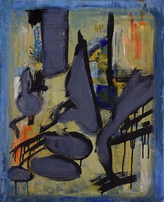 "Expressionism, Original Contemporary Abstract Painting ""Wall Street"" by International Contemporary Abstract Artist Arrachme"