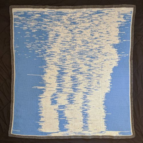 A Father Transformed Data of his Son's First Year of Sleep into a Knitted Blanket