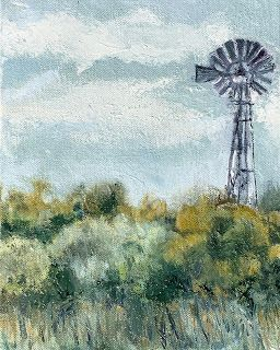 West Texas Windmill, by Melissa A. Torres, 8x10 oil on canvas