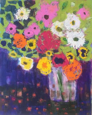 "Abstract Flowers, ""Spring,"" by Amy Whitehouse"