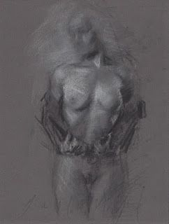 Undressing female nude model frontal view