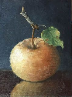 'Winter Apple' An Original Oil Painting by Claire Beadon Carnell