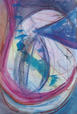 """Abstract Art, Contemporary Painting Art, Colorful Mixed Media Painting, Contemporary Art, """"The Egg"""
