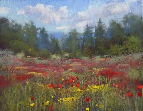 How to Paint a Sunny Landscape with Pastels