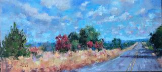 Contemporary Impressionistic Landscape Palette Knife Original Oil Painting by Sheri Jones