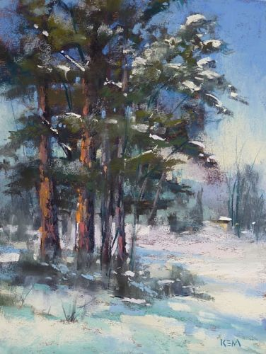 Behind the Scenes of A Pine Tree Painting