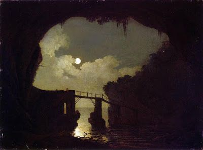 Joseph Wright of Derby, Bridge through a Cavern, Moonlight