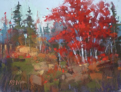 My Favorite Tip for Painting Red Trees